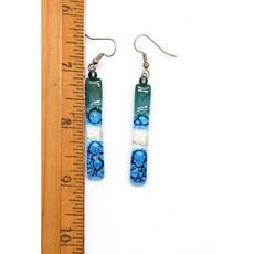 Dunitz & Co Long Stick Glass Earrings