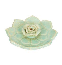 DZI Handmade Lotus Heart Ceramic  Incense Burner