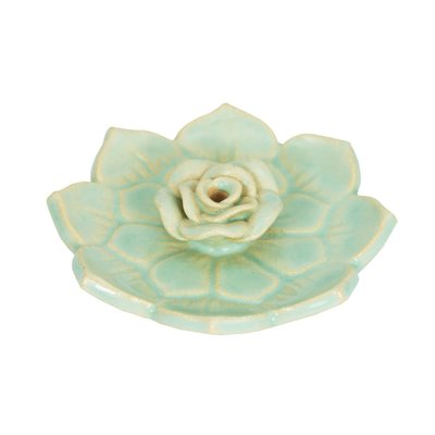 DZI Handmade Lotus Heart Ceramic  Incense Burner