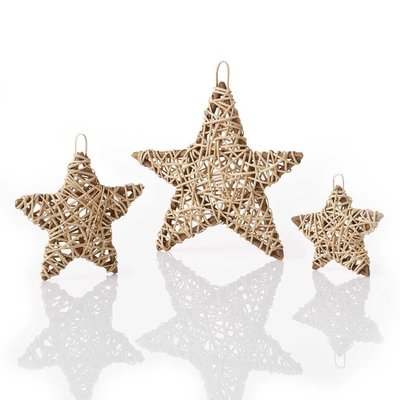 Serrv Natural Vine Wrapped Star Ornament - Large