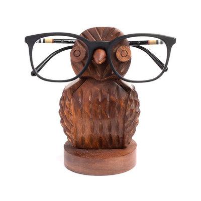 Matr Boomie Owl Rosewood Eyeglass Holder