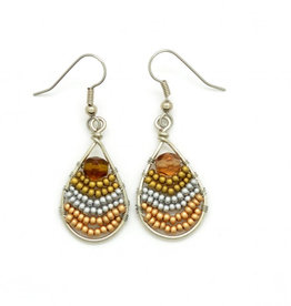 Dunitz & Co Small Wire Rainbow Teardrop Earrings