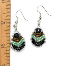 Dunitz & Co Small Wire Rainbow Teardrop Earrings