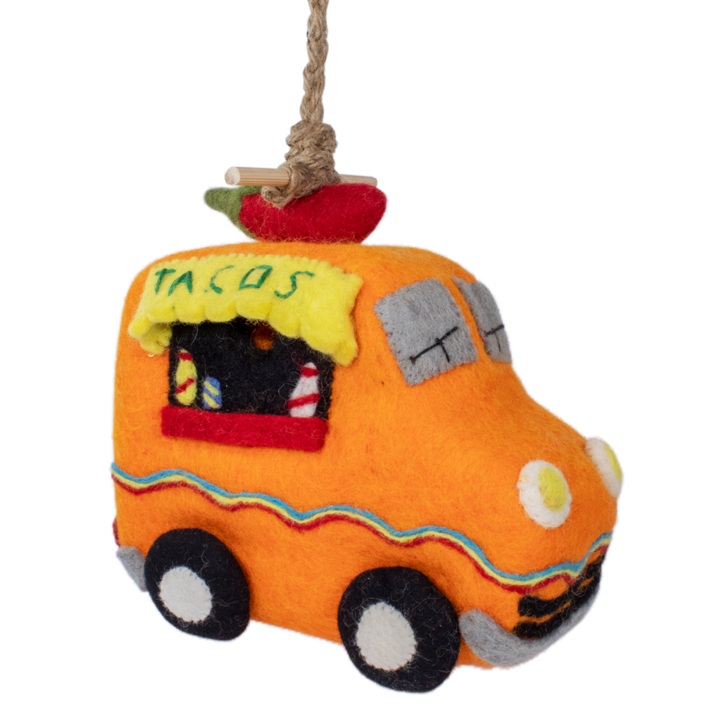 DZI Handmade Taco Truck Wool Felt Birdhouse