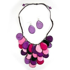Minga Imports Tagua Waterfall Statement Necklace