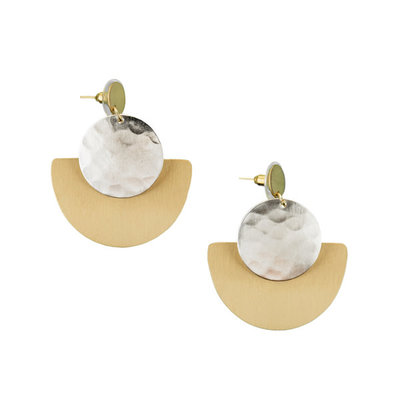 Matr Boomie Vitana Deco Disc Earrings