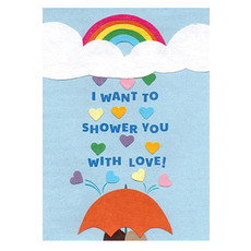 Good Paper Shower with Love Card