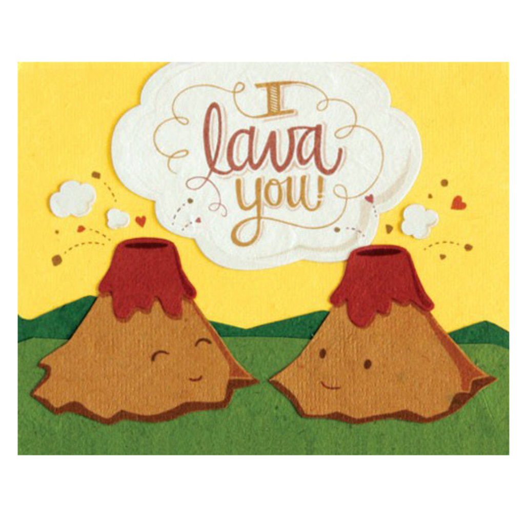 Good Paper I Lava You Love Card