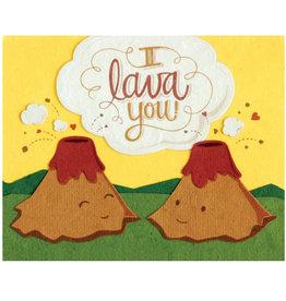 Good Paper I Lava You Love Card