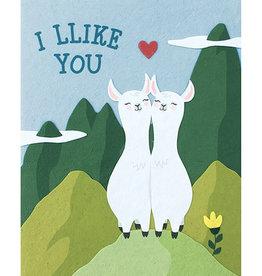 Good Paper Llike You Llamas Love Card