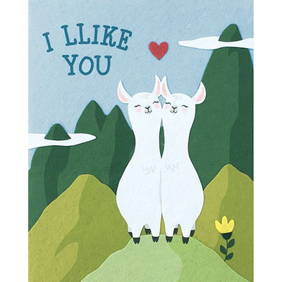 Good Paper Llike You Llamas Card