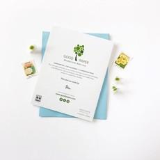 Good Paper Otter Hold Hands Handmade Paper Card