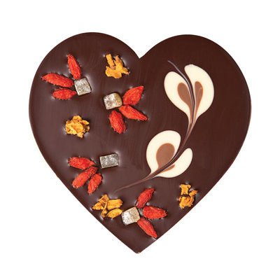 Zotter Chocolate L'Amour Intense Vegan Dark Chocolate Heart
