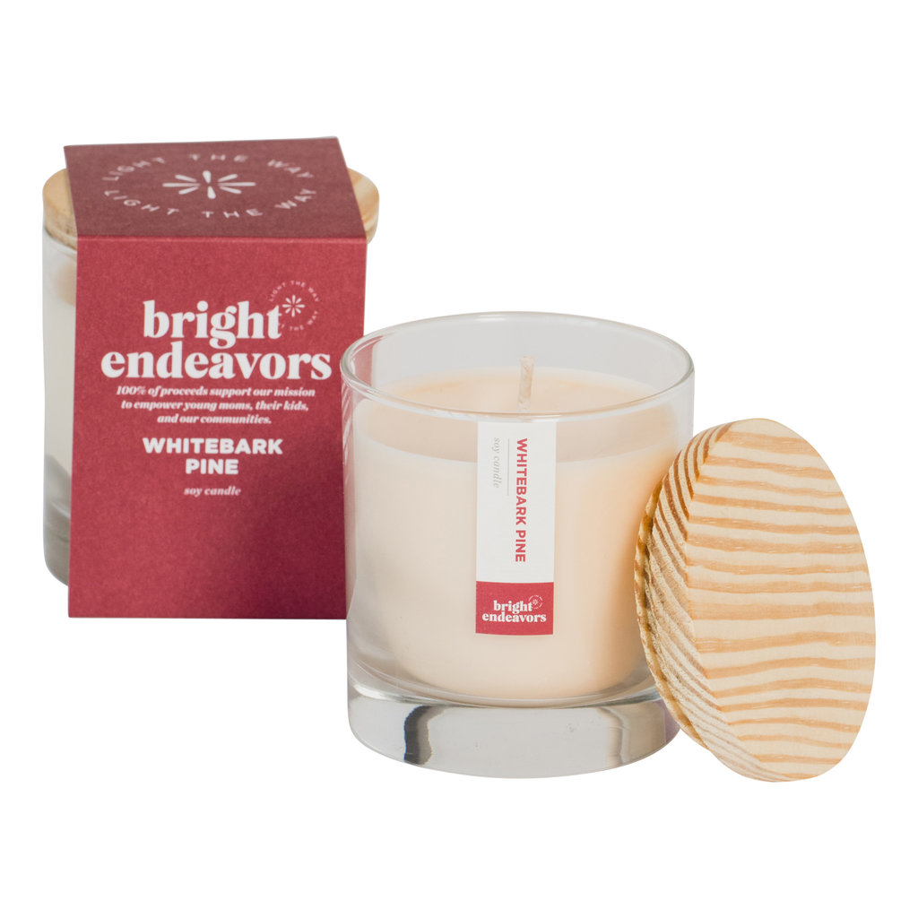 Bright Endeavors Whitebark Pine 9 Ounce Candle