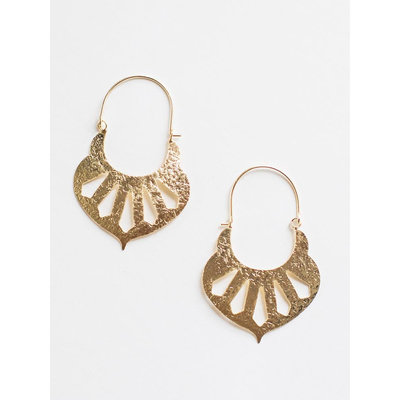 Mata Traders Sparta Gold Brass Earrings