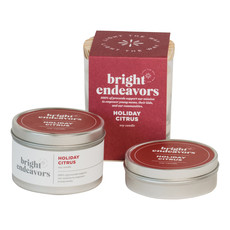 Bright Endeavors Holiday Citrus Candle 8 Ounce Tin