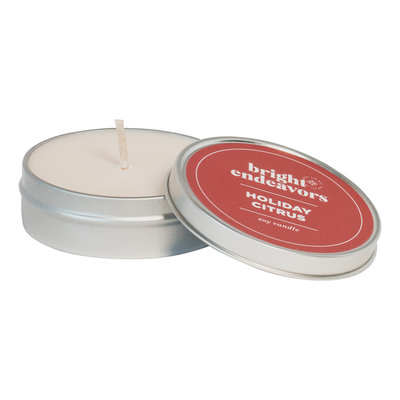 Bright Endeavors Holiday Citrus Candle 4oz Tin