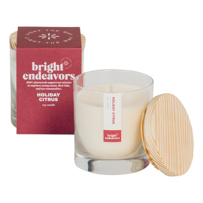 Bright Endeavors Holiday Citrus 9 Ounce Candle