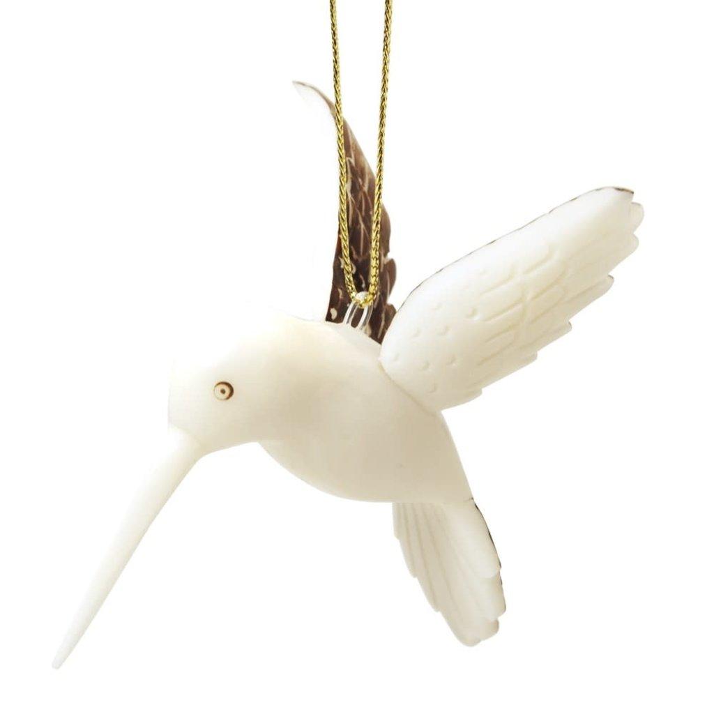 Ten Thousand Villages Tagua Nut Hummingbird Ornament