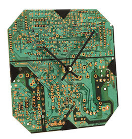 Ten Thousand Villages Circuit Board Square Clock