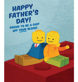 Good Paper Chip Off Your Block Father's Day Card