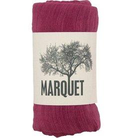 Marquet Fair Trade Deep Fuschia Binh Minh Silk and Cotton Shawl