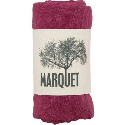 Marquet Fair Trade Deep Fuschia Binh Minh Silk and Cotton Shawl