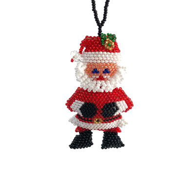 Unique Batik Deluxe Beaded Ornament SANTY