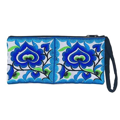Unique Batik Thai Floral Pencil Pouch/ Wallet