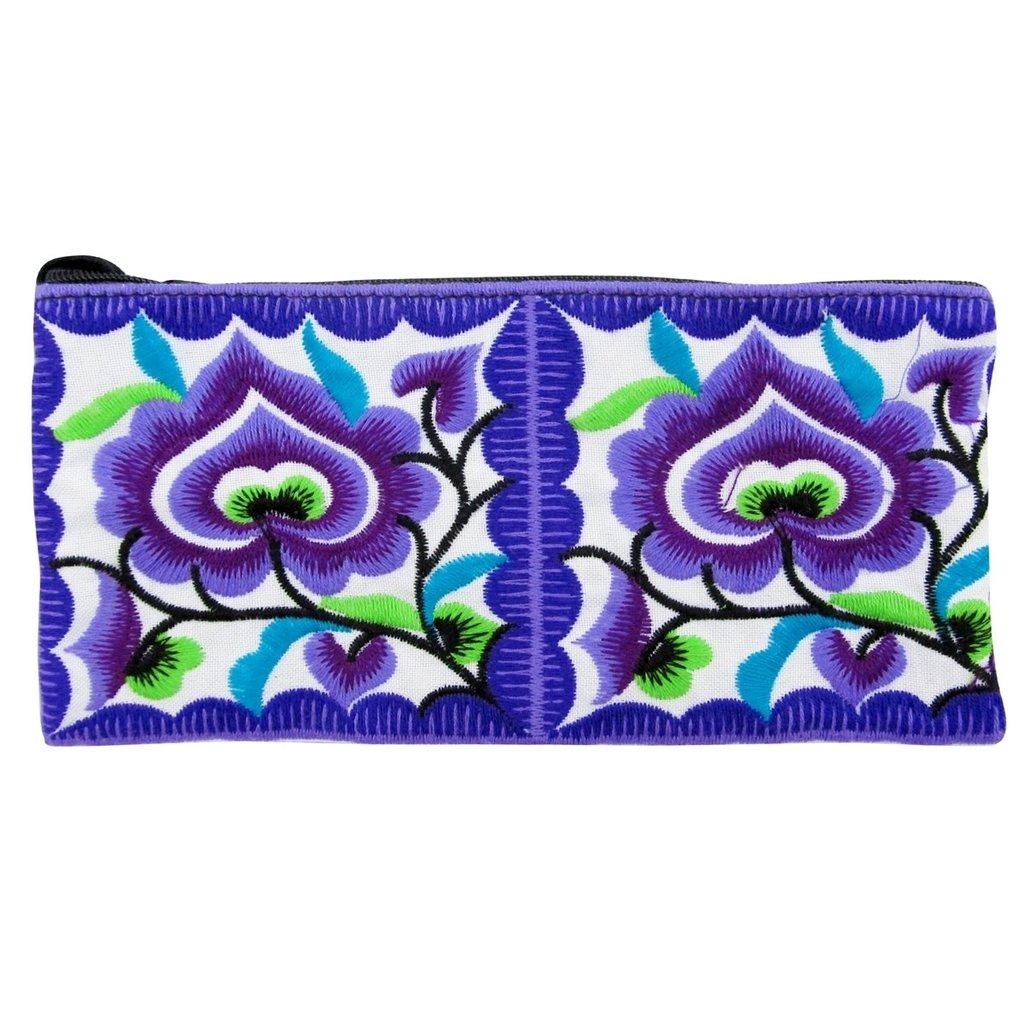 Unique Batik Thai Floral Pencil Pouch/ Wallet