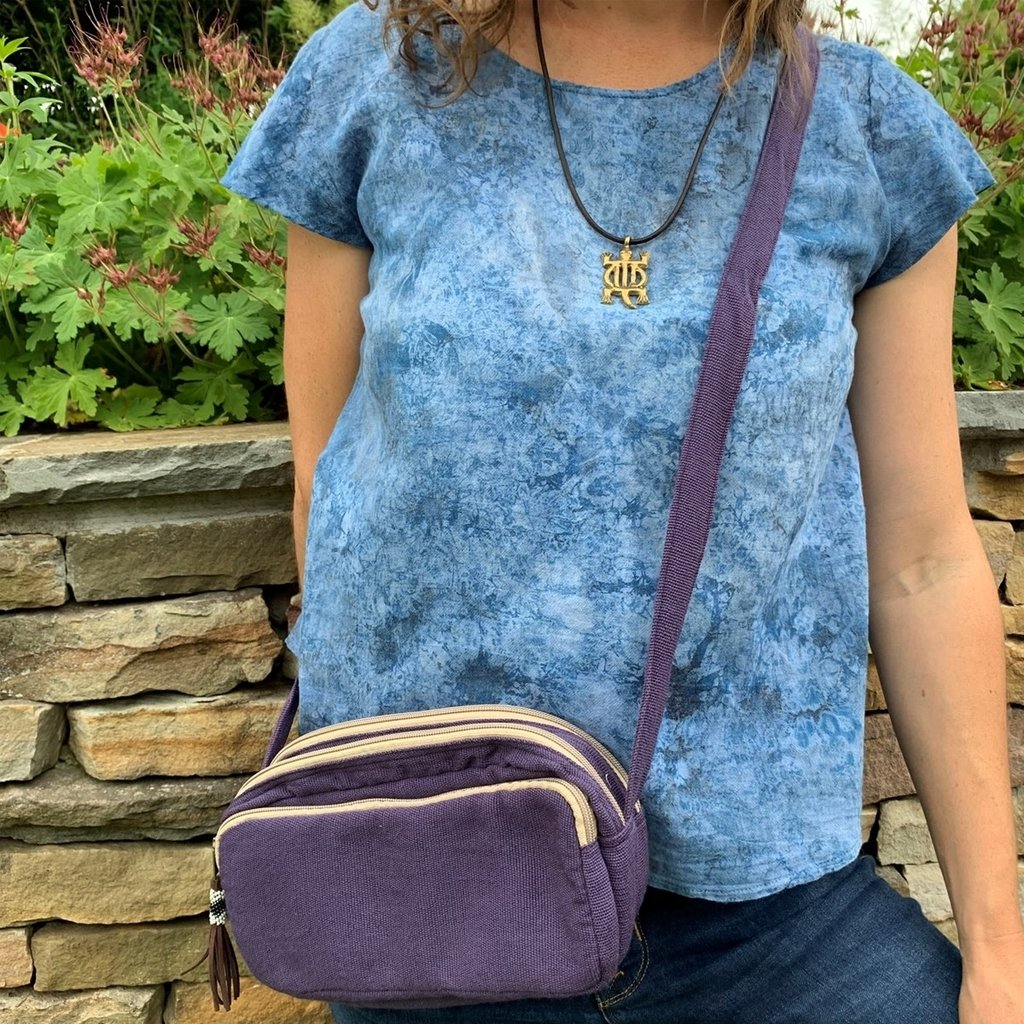 Unique Batik Little Alpha 3-Compartment Crossbody Bag