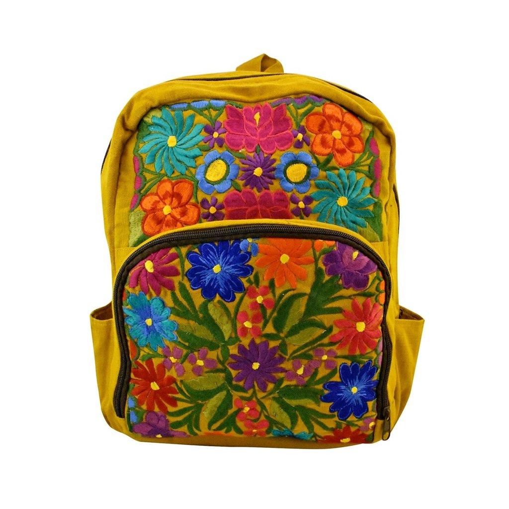 Unique Batik Wild Blossom Embroidered Backpack