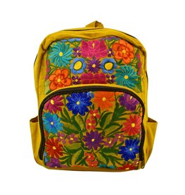 Unique Batik Wild Blossom Embroidered Backpack