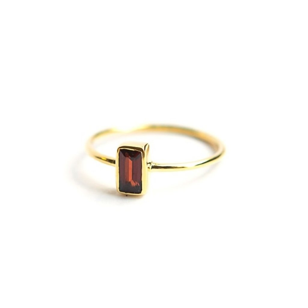 Fair Anita Prism Gold and Garnet Ring