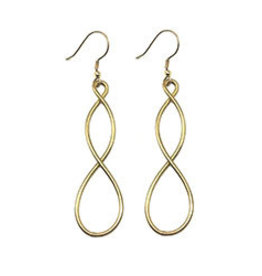 World Finds Double Helix Gold Earrings