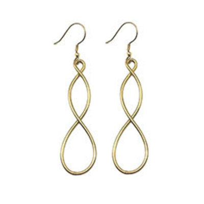 World Finds Double Helix Gold Earrings