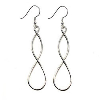 World Finds Double Helix Silver Earrings