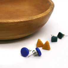 Global Mamas Elements Recycled Glass Stud Earrings Set