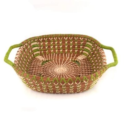 Mayan Hands Elva Pine Needle and Wild Grass Basket