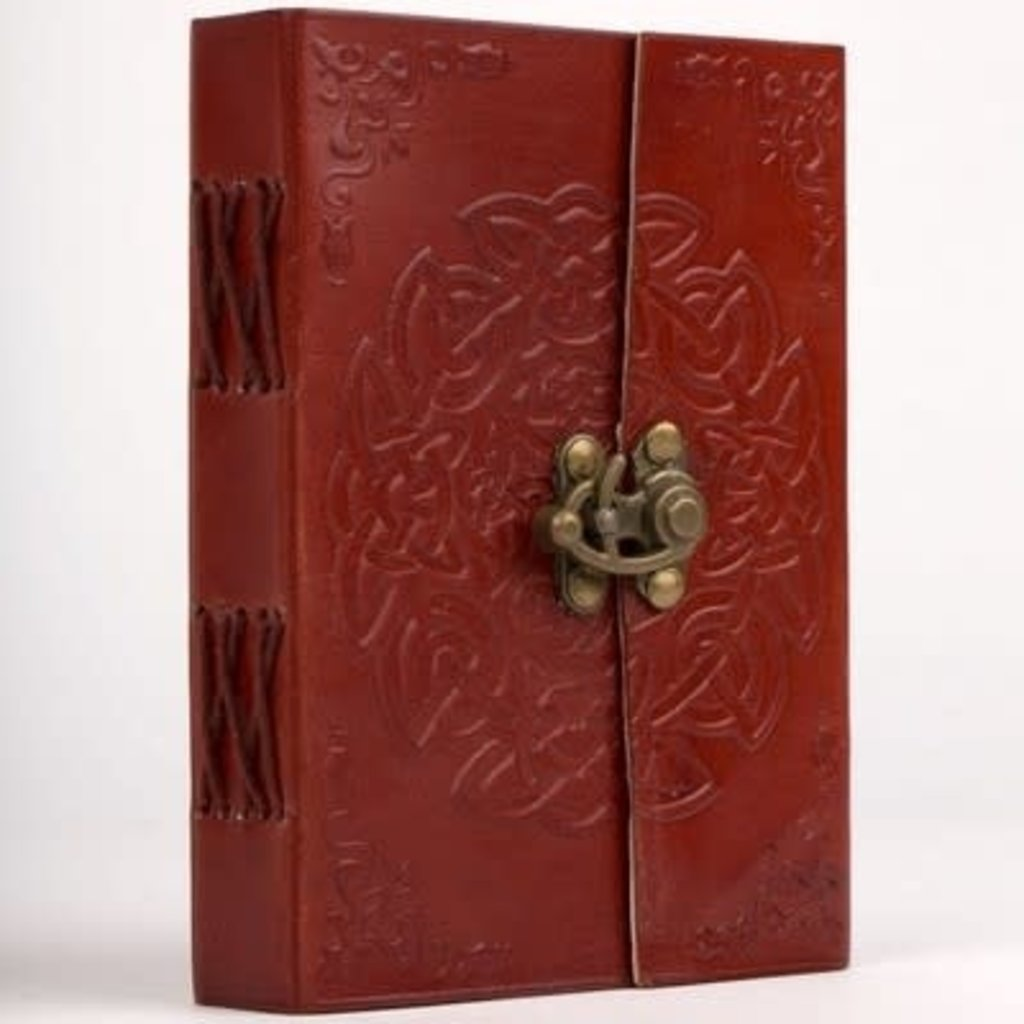 Ten Thousand Villages Endless Knot Cruelty-Free Leather Journal