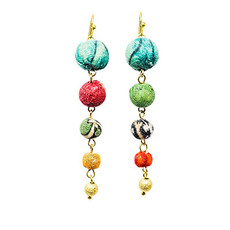 World Finds Evolving Kantha Bead Earrings