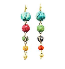 World Finds Evolving Kantha Bead Earrings