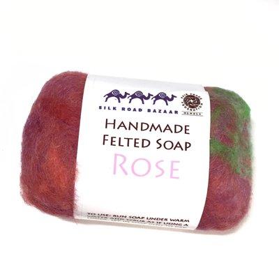Silk Road Bazaar Rose Handmade Felted Soap
