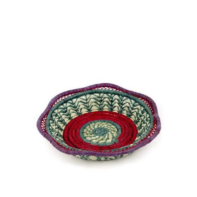 Mayan Hands Fina Pine Needle and Wild Grass Basket