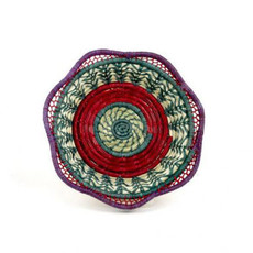 Mayan Hands Fina Pine Needle and Wild Grass Basket