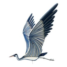Tulia's Artisan Gallery Flying Blue Heron Mobile