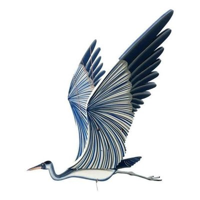 Tulia's Artisan Gallery Flying Mobile: Blue Heron