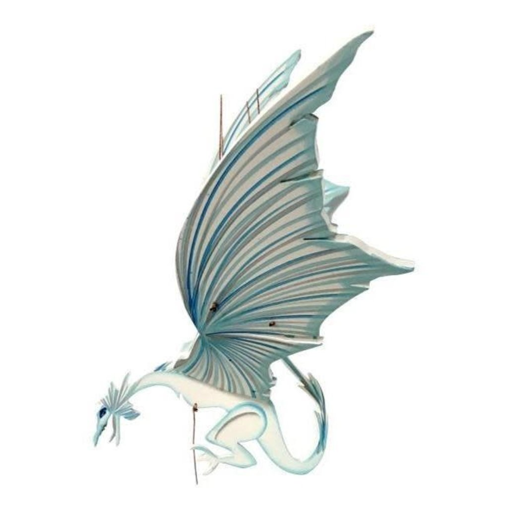 Tulia's Artisan Gallery Flying Ice Dragon Mobile
