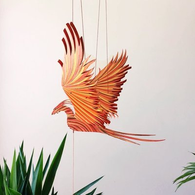 Tulia's Artisan Gallery Flying Phoenix Firebird Mobile