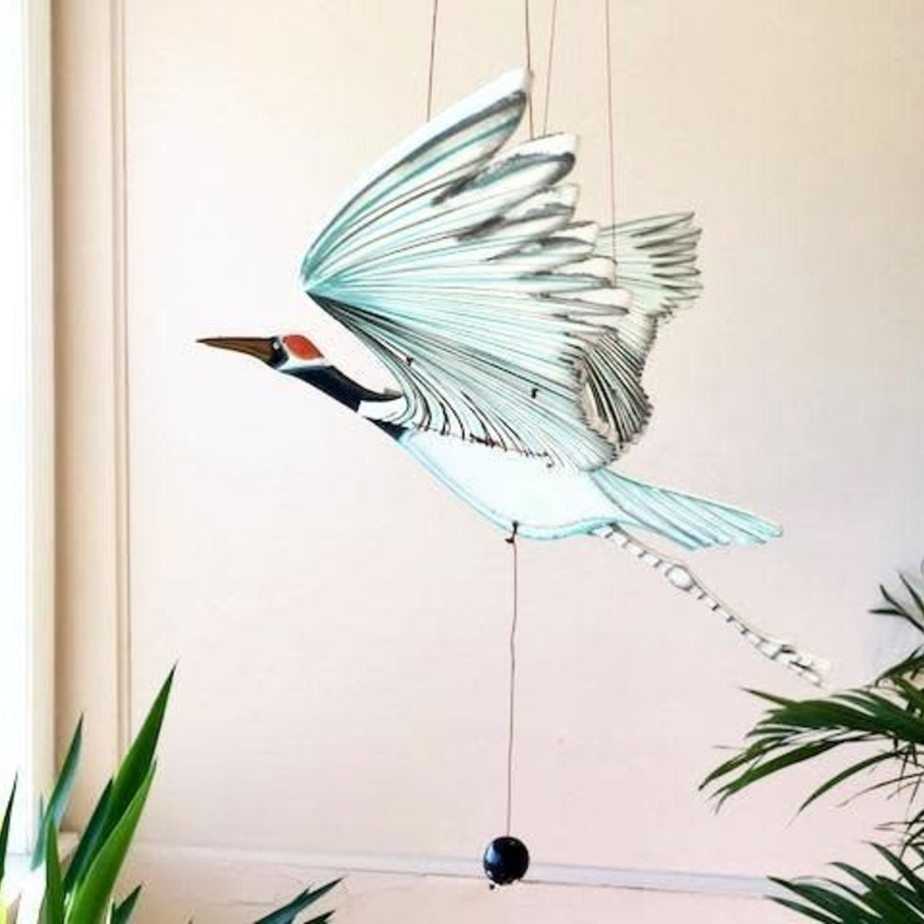 Tulia's Artisan Gallery Flying Mobile: Whooping Crane